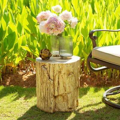 Denholme Tree Stump End Table - Wayfair