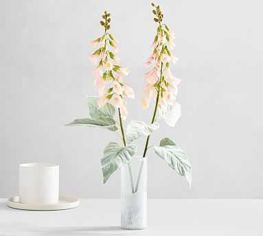 Faux Foxglove Stem, Light Pink, One - Pottery Barn