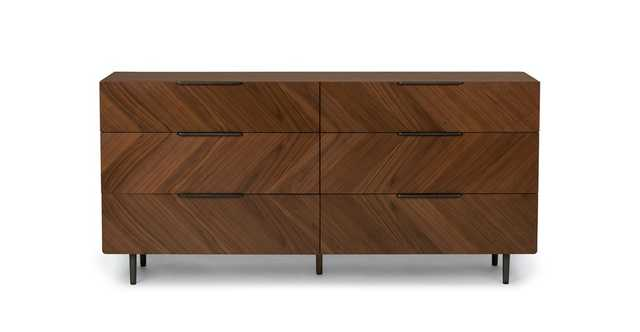 Nera Walnut 6 Drawer Dresser - Article