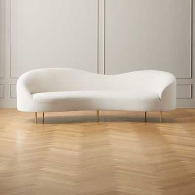 Curvo Snow Sofa, Nomad, Snow - CB2