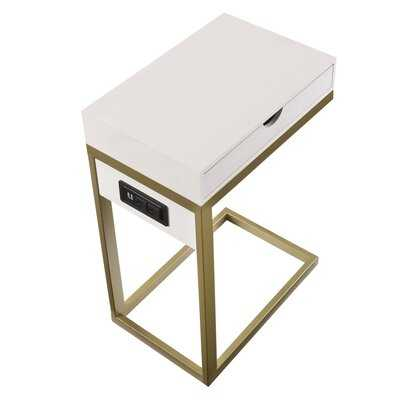Knutsford C Table with Storage - Wayfair