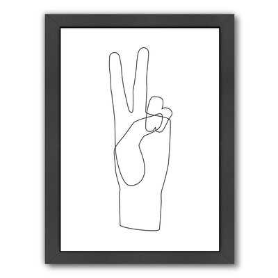 Peace by Explicit Design - Picture Frame Print on Paper - AllModern