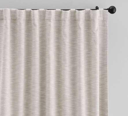 "Seaton Textured Cotton Rod Pocket Blackout Curtain, 50 x 108"", Neutral - Pottery Barn"