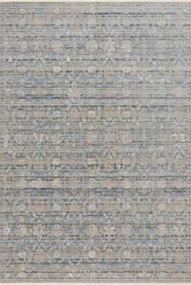 """Claire CLE-03 Ocean / Gold 7'-10"""" x 10'-2"""" - Loma Threads"""