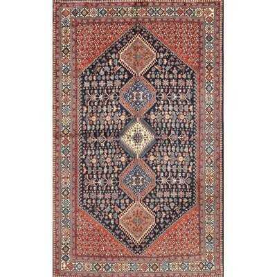 Punchard Oriental Machine Made Power Loom Wool/Polyester Beige/Gray/Red Area Rug - Wayfair