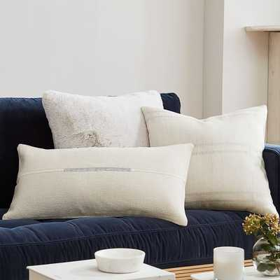 Stone White & Silver Pillow Cover Set - West Elm