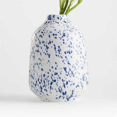 Alya White Speckled Vase - Crate and Barrel