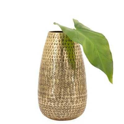 Neves Indoor / Outdoor Aluminum Table Vase - Wayfair