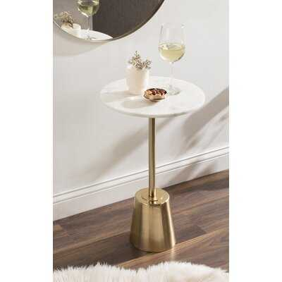 Leming Round Side Table 14X14x24 Gold - Wayfair