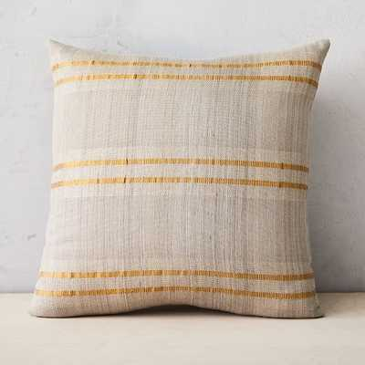 "Silk Stripes Pillow Cover, 20""x20"", Metallic Gold - West Elm"