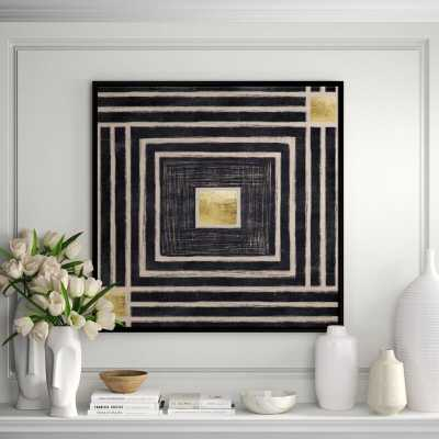 JBass Grand Gallery Collection 'Golden Center' Framed Graphic Art Print on Canvas - Perigold