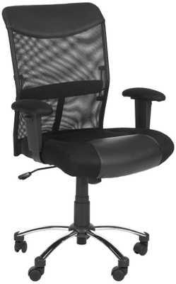 Bernard Desk Chair - Black/Silver - Arlo Home - Arlo Home