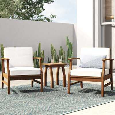Antonia 3 Piece Seating Group with Cushions - Wayfair