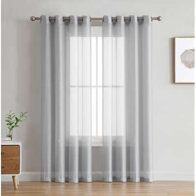 Highlawn Solid Color Sheer Grommet Curtain Panels - Birch Lane