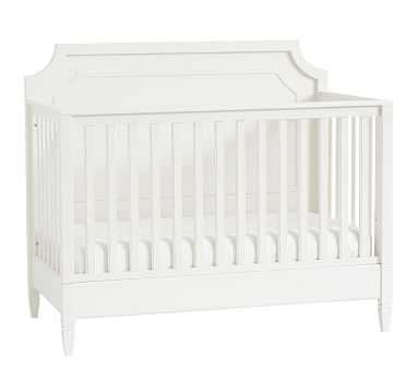 Ava Regency 4-in-1 Convertible Crib, Simply White, Flat Rate - Pottery Barn Kids