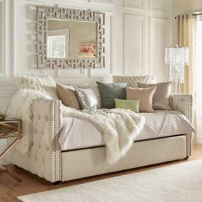 Scribner Button Tufted Full Daybed with Trundle - Wayfair