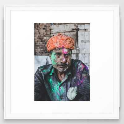 Vrindavan, India Iii Framed Art Print by Luke Gram - Scoop White - MEDIUM (Gallery)-22x22 - Society6