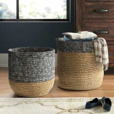 Seagrass 2 Piece Wicker Basket Set - Wayfair