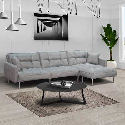 "Arikara 109"" Wide Reversible Sleeper Sofa & Chaise with Ottoman - Wayfair"