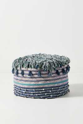 All Roads Issoire Pouf By All Roads Design in Blue - Anthropologie