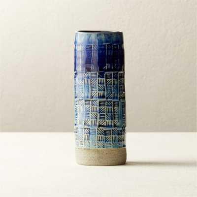 Intersect Indigo Vase - CB2