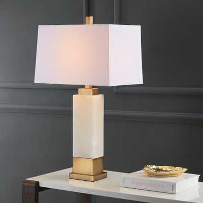 Rozella Alabaster 29.5-Inch H Table Lamp - White/Gold - Arlo Home - Arlo Home