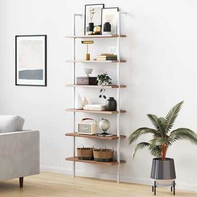 Rustic Oak/White Zachary Ladder Bookcase - AllModern