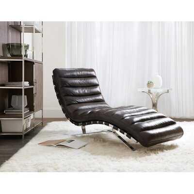 Caddock Leather Chaise Lounge - Wayfair