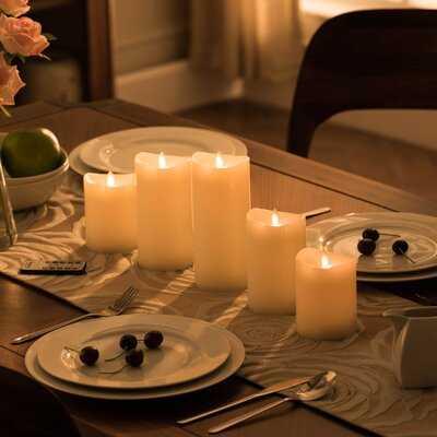 5 Piece Grandiose Unscented Pillar Candle Set - Wayfair