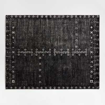 Erria Black Rug 8'x10' - Crate and Barrel