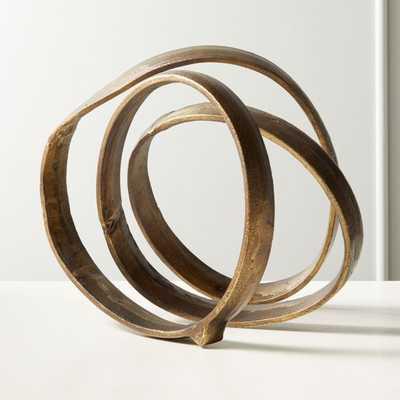 Lasso Brass Spiral Sculpture - CB2