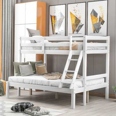 """Simple Wooden """"Mother And Child"""" Bunk Bed (Grey) - Wayfair"""