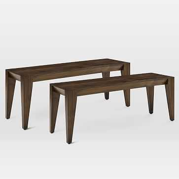 "Anderson Dining Bench 50"" Acacia, Carob, Set of 2 - West Elm"