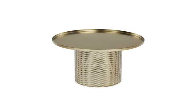 Equa Brushed Brass Coffee Table - Article