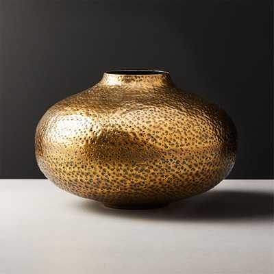 Etna Brass Vase - CB2