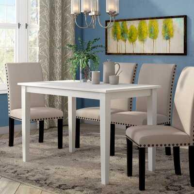 Antrim Rubberwood Solid Wood Dining Table - Wayfair