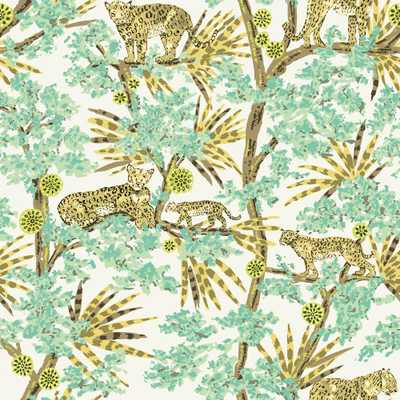 Tempaper Leopards Lime Peel and Stick Wallpaper, 60 sq. ft., Green - Home Depot