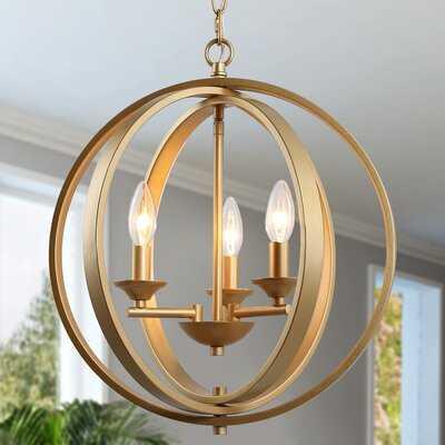 Stembridge 3 - Light Shaded Globe Chandelier - Wayfair