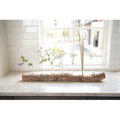 "8 Piece Siebert Clear 7"" Glass Table Vase Set - Wayfair"