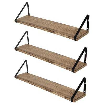 Gerika 3 Piece Solid Wood Bracket Shelf - Wayfair
