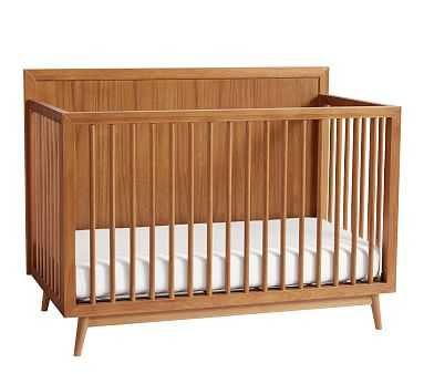 west elm x pbk Mid Century 4-in-1 Convertible Crib, Acorn, Flat Rate - Pottery Barn Kids