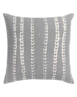 vines pillow in grey - with insert - PillowPia