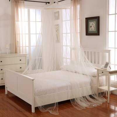 Gracie Round Hoop Sheer Bed Canopy Net - Wayfair