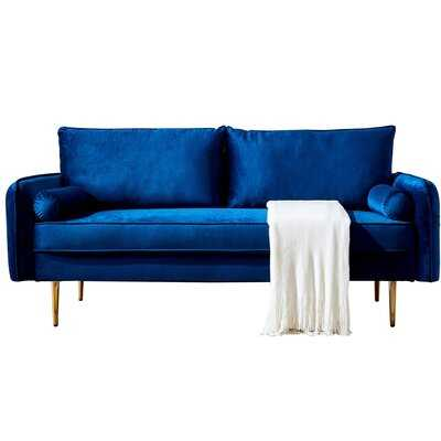 "Clough 71"" Wide Velvet Round Arm Sofa - Wayfair"