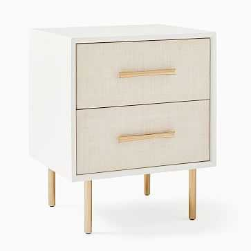 Margot Nightstand, Whitewashed, Light Bronze-individual - West Elm