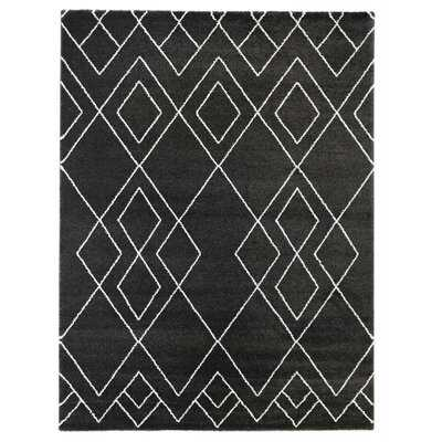 Hawthorne Geometric Black Area Rug - Wayfair