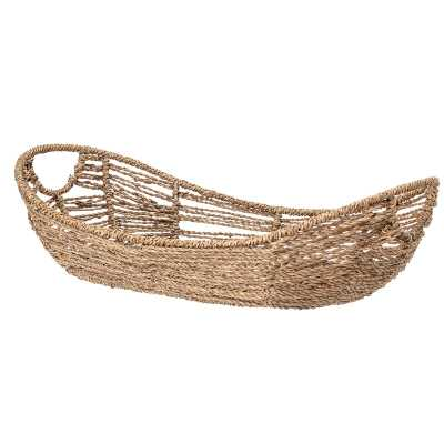 Bloomingville Long Seagrass Basket with Handles - Perigold