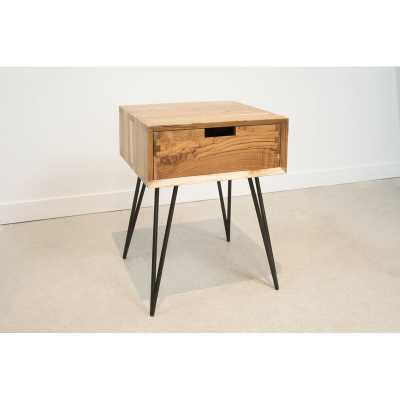From the Source Ciao End Table with Storage Table Top Color: Natural Teak - Perigold
