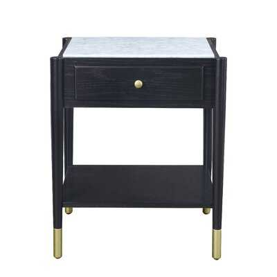 Wiebe Marble Top End Table with Storage - Wayfair