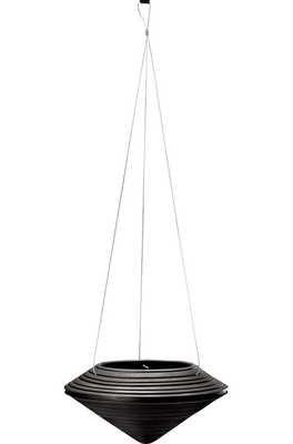 Daniel Resin Hanging Planter Color: Caviar Black - Perigold